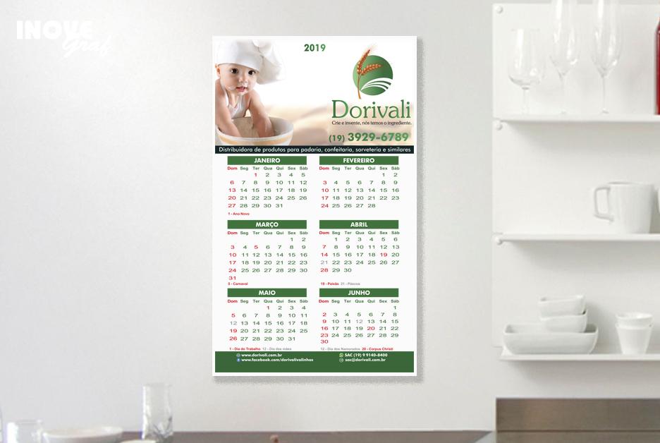 InoveGraf produz calendário de parede para Dorivali
