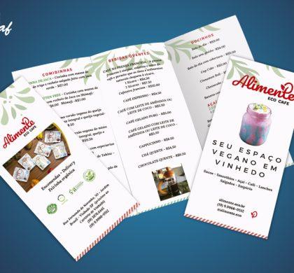 Folder produzido pela InoveGraf para Alimente Eco Cafe