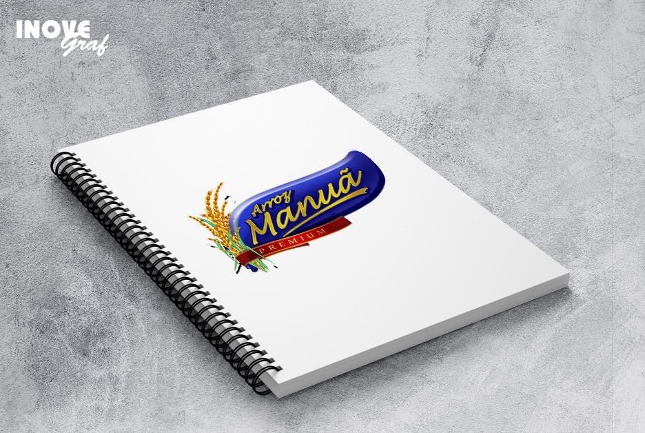 Inovegraf produz caderno para Arroz Manuã