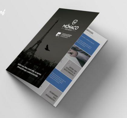 Folder produzido pela InoveGraf para a Mônaco Investimentos
