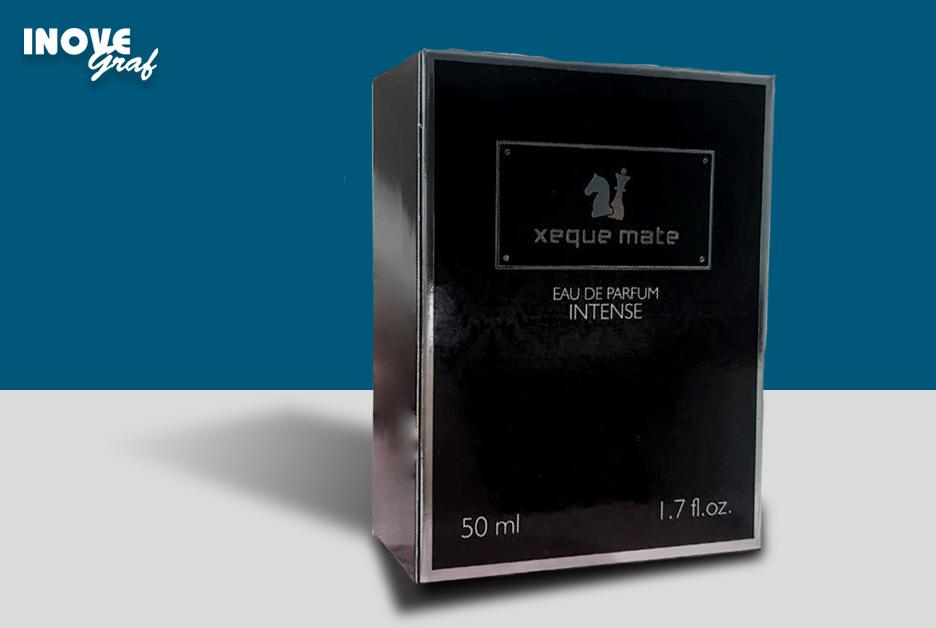 Inovegraf produz caixa para perfume Xeque Mate Intense