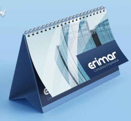 Calendário de mesa produzido pela InoveGraf para Erimar Consultoria Empresarial