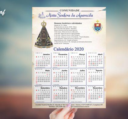 InoveGraf produz calendário de parede para Comunidade Nossa Senhora Aparecida