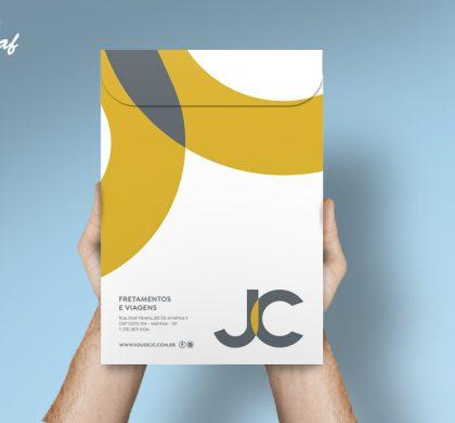 Envelope Saco/A4 produzido pela InoveGraf para JC Turismo
