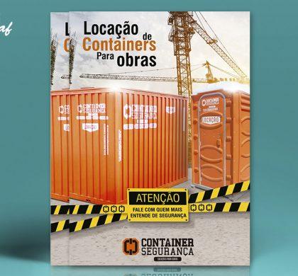 Folhetos refilados produzido pela InoveGraf para a Container Segurança