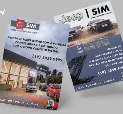 Panfletos produzidos pela InoveGraf para a FIAT SIM
