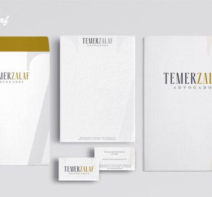 Papelaria produzida pela InoveGraf para a TemerZalaf Advogados