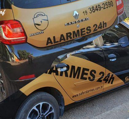InoveGraf Campinas produz adesivação de frota para Safer Alarmes