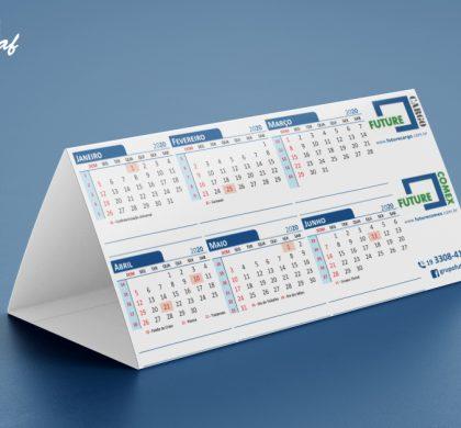InoveGraf Campinas produz calendários de mesa para Future Comex