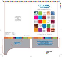 Pastas produzidas para a CCL Label impressas em cinco cores em papel Duo Design.